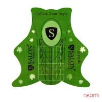 Формы для наращивания ногтей Salon Professional зеленые, 20 шт.