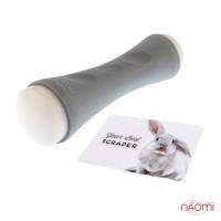 Двусторонний силиконовый штамп и скрапер для стемпинга MoYou XL Regular Double Sided, цвет серый
