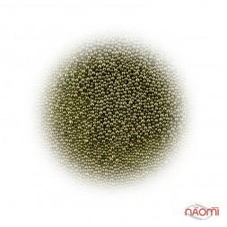 Бульонки для украшения ногтей, цвет зеленый хаки, в пакетике, 2,5 г