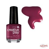 Лак CND Creative Play 416 Currantly Single, красный, 13,6 мл