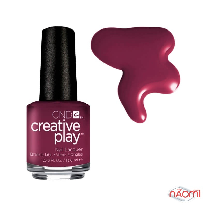 Лак CND Creative Play 416 Currantly Single, красный, 13,6 мл, фото 1, 129.00 грн.