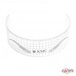 Линейка для построения идеальной формы бровей KMC, прозрачная