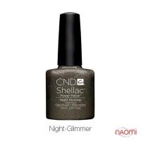 CND Shellac Night Glimmer мокрый асфальт с медным отливом, 7,3 мл
