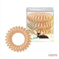 Резинка-браслет для волос Invisibobble Silky Season, цвет персик, 30х16 мм, 3 шт.
