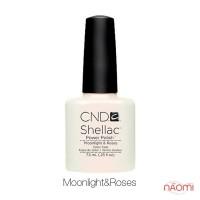 CND Shellac Moonlight&Roses бледный жемчужно-белый с нежным розовым оттенком, 7,3 мл