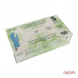 Рукавички нітрилові SFM упаковка - 100 штук, розмір S