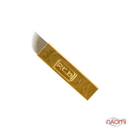 Игла для микроблейдинга PCD 14 контактов 0,25 мм, золотая, фото 1, 24.00 грн.