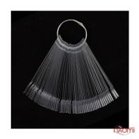 Типсы для образцов на кольце прямоугольные прозрачные 12,5 см, 50 шт.