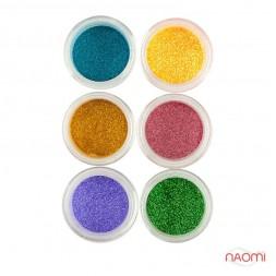 Глітерний пісок в баночці №5, Salon Professional, набір 6 шт.