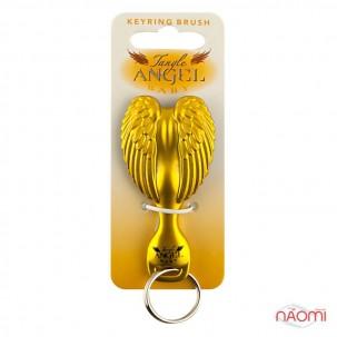 Расческа-брелок Tangle Angel Baby Brush Gorgeous! Gold, цвет черно-золотой