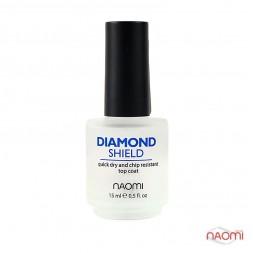Топ швидковисихаючий для лаку Naomi Diamond Shield, 15 мл