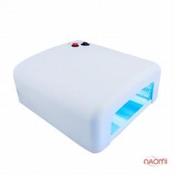 УФ лампа для ногтей 36W LV 818, таймер на 120 сек. и режим бесконечности, цвет белый