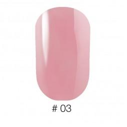 Лак Naomi VINYTONE 03 рожевий з перламутром, 12 мл