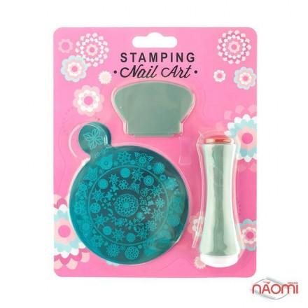 Набор для стемпинга Stamping Nail Art SG 07, штамп, скрапер и пластина, фото 1, 80.00 грн.