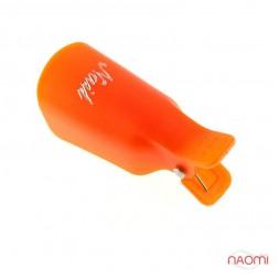 Набір кліпсів (прищіпок) для зняття гель-лаку, багаторазові 10 шт./уп., колір помаранчеві