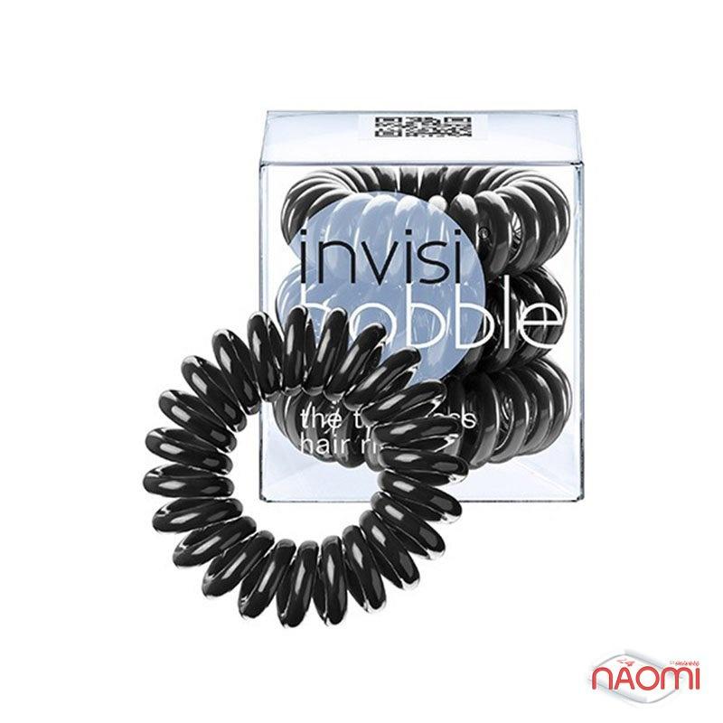 Резинка-браслет для волос Invisibobble ORIGINAL True Black, цвет черный, 30х16 см, 3 шт., фото 1, 139.00 грн.