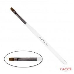 Кисть для наращивания G. Lacolor 6, прямая, с прозрачной ручкой, искусственный ворс
