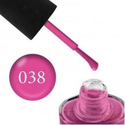 Лак NUB 038 Pink Flamingo рожевий фламінго, 14 мл