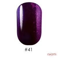 Гель-лак G.La color 041 темный фиолетовый с яркими малиновыми шимерами, 10 мл