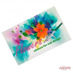 Трафареты-наклейки для nail-art Цветы, в наборе 5 листов