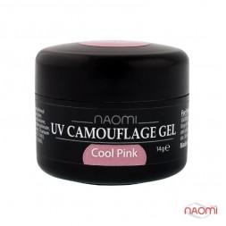 Гель Naomi камуфляжний UV Camouflage Cool Pink рожевий, 14 г