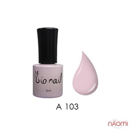 Гель лак BioNail A 103 Nude Pink натурально-розовый, эмалевый, 8 мл, фото 1, 194.00 грн.