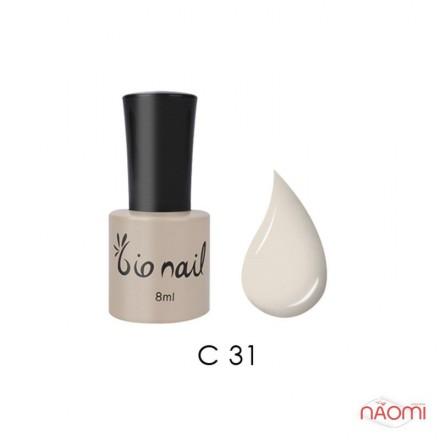 Гель лак BioNail C 031 Cream Beige светлый кремово-бежевый, эмалевый, 8 мл, фото 1, 194.00 грн.