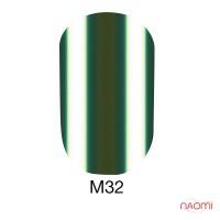 Гель-лак Naomi Metallic Collection M32 серый хаки, 6 мл