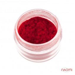 Оксамитова пудра, колір червоний