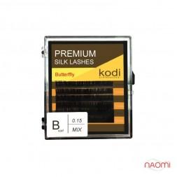 Вії Kodi professional Butterfly B 0.15 (10,11,12 мм)