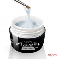 Гель Naomi однофазный UV Builder Clear 1-Phase прозрачный, 28 г