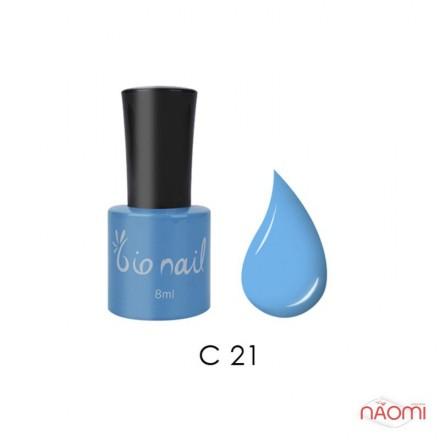 Гель лак BioNail C 021 Sky Blue небесно-голубой, эмалевый, 8 мл, фото 1, 194.00 грн.