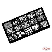 Пластина пластиковая для стемпинга Kodi Professional XY-L 15, 6х12 см