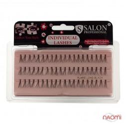 Пучковые ресницы Salon Professional, SHORT короткие, черные