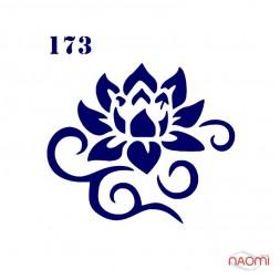 Трафарет для временного тату Цветы № 173  6х6 см