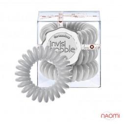 Резинка-браслет для волос Invisibobble ORIGINAL Foggy Nights, цвет светло-серый, 30х16 мм. 3 шт.
