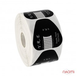 Формы для наращивания ногтей YRE широкие, черные, 500 шт.