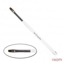 Пензель для нарощування G. Lacolor 5, пряма, з прозорою ручкою, штучний ворс
