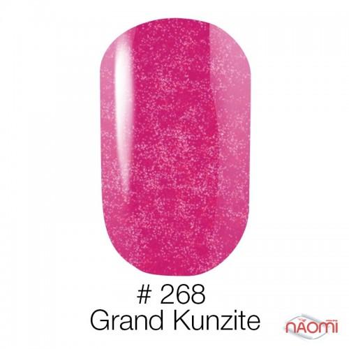 Гель-лак Naomi 268 Grand Kunzite малинова фуксія зі сріблястими шимерами, 6 мл, фото 1, 55.00 грн.