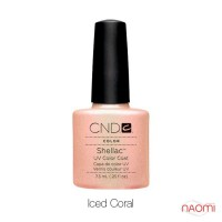 CND Shellac Iced Coral светлый бежево - персиковый, 7,3 мл