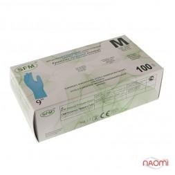 Рукавички нітрилові SFM упаковка - 100 штук, розмір M (без пудри)