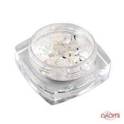 Декор для нігтів Salon Professional Луска, колір білий, дрібна