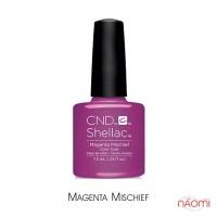 CND Shellac Art Vandal Magenta Mischief фиолетово-розовый с шиммером, 7,3 мл