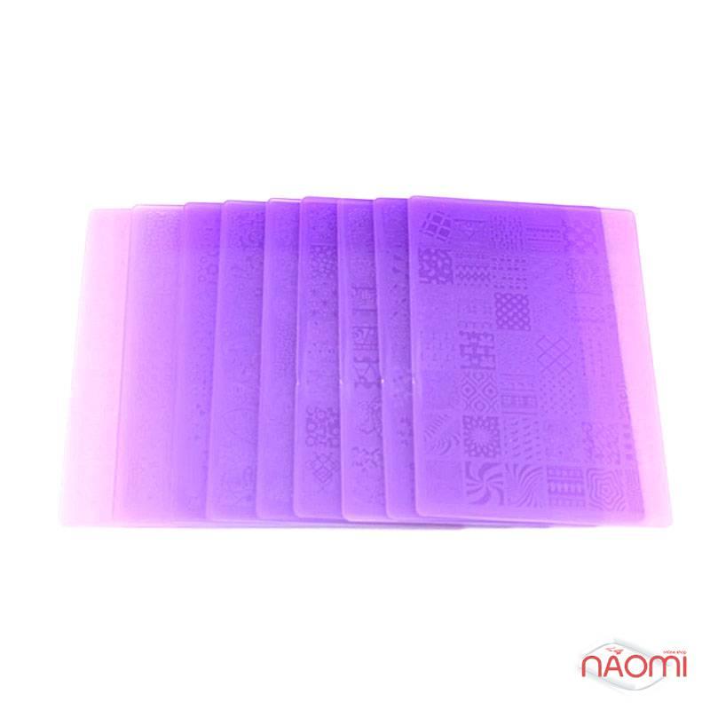 Пластина пластиковая для стемпинга Kodi Professional XY-К 11, 9,5х14,5 см, фото 2, 65.00 грн.