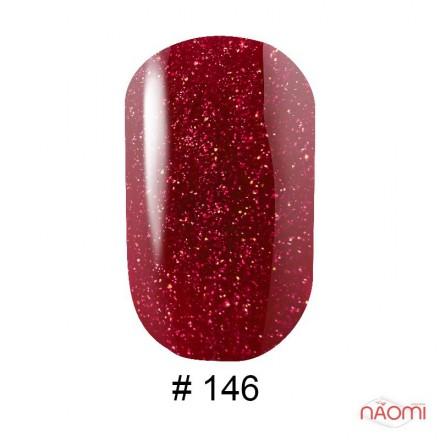 Гель-лак G.La color 146 красно-малиновый с красными шиммерами, 10 мл, фото 1, 80.00 грн.