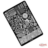 Пластина пластиковая для стемпинга Kodi Professional XY-К 18 9,5х14,5 см