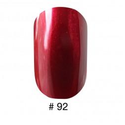 Лак Naomi 092 перламутровий вишнево-червоний, 12 мл