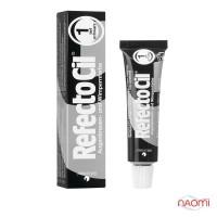 Фарба для брів і вій RefectoCil №1 Pure Black, колір глибокий чорний, 15 мл