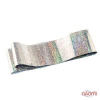 Фольга для нігтів перевідна, для лиття, silver пісок L = 1 м ширина 4 см
