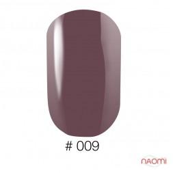 Лак Naomi 009 темная марсала, 12 мл